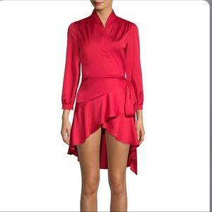 Few Moda Red Street Wrap Dress